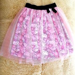 Hello Kitty Girls Skirt Sz S/Small